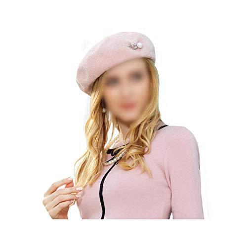 Wool Beret Hat Warm Caps French Artist Felt Hats Beanie Baret Pearl Hiver