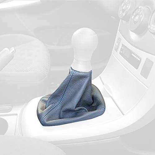Black leather-Silver thread RedlineGoods shift boot compatible with Lexus IS 2001-05