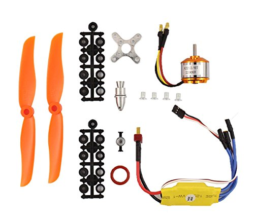 XtremeAmazing RC 2200KV Brushless Motor 2212-6 + 30A ESC + Free Mount for RC plane (Helicopter Brushless Motor)
