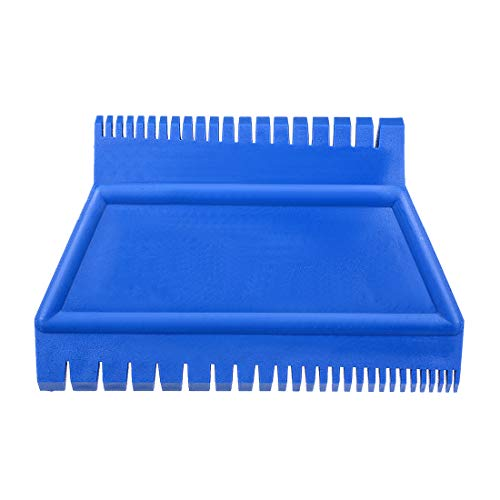 uxcell Wood Grain Tool 4.7 inch Ladder Rubber Graining Pattern Scraper Tool for Wall Painting Decoration DIY MS15 Blue