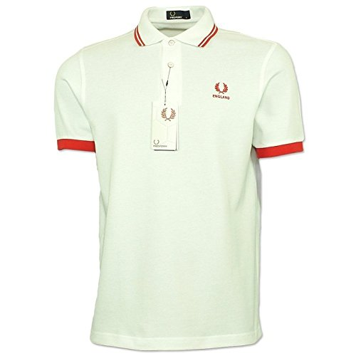 Twin Tipped Fred Perry Shirt (XXL, White/Coral Pink/Black)