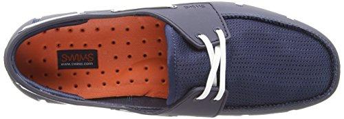 Simmar Mens Sport Loafers Marinblå Vit