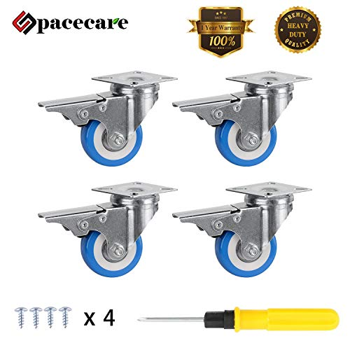 Casters Lockable - SPACECARE 4 Pack of 2