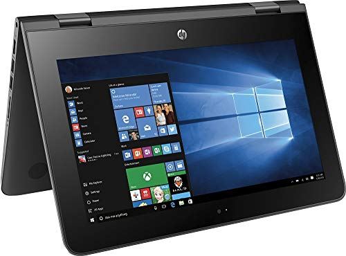 HP X360 11-AB011DX 11.6-Inch Touchscreen 2-in-1 Convertible Premium HD Laptop (Intel celeron N3060,...