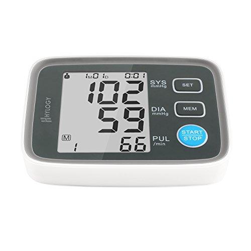 Hylogy Blutdruckmessgerät Oberarm messen Blutdruck und Puls, schnell und präzis mit einstellbarer Manschette und großem LCD Anzeiger, 2*90 Gruppen Datenspeicher fähig für 2 Benutzern
