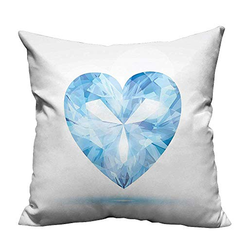 YouXianHome Home Decor Pillowcase Big Hanging Valentine Heart with Bright Shades Shadow Box Passion Romance Fortu Durable Polyester Fabric(Double-Sided Printing) 20x20 inch