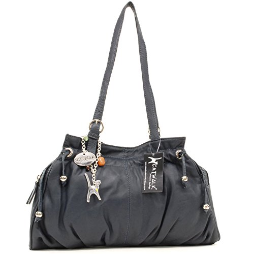 de Oscuro Bolso ALICE hombro COLLECTION Azul Cuero CATWALK ZfqtUc7ggW