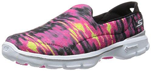 Skechers Womens Gowalk 3 Swell Slip On Black / Hot Pink