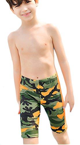 WUAMBO Boy's Kids Camouflage Swim Shorts Orange 8-10 Years (55-66lb) by WUAMBO (Image #3)