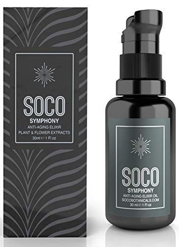SOCO Botanicals Face Oil Serum – Anti Aging Organic Elixir for Face and Eyes with Sea Buckthorn, Argan, Rosehip & CoQ10, Neroli & Immortelle Essential Oil Blend