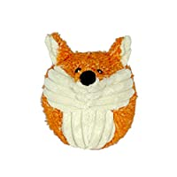 HuggleHounds Plush, Durable Squooshie Foxy Ball, Orange