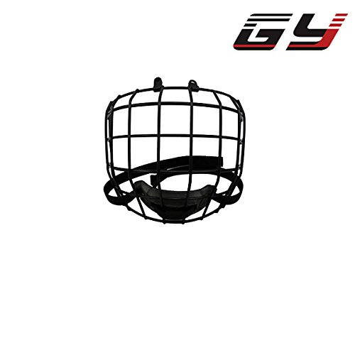 GY PC200 A3 High Carbon Steel Ice Hockey Mask Cage Shield for Hockey Helmets Face by CE Certification Free Size -