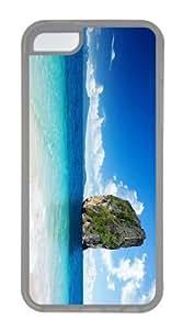 case crazy cover Rock in Sea TPU Transparent Case for iphone 5C