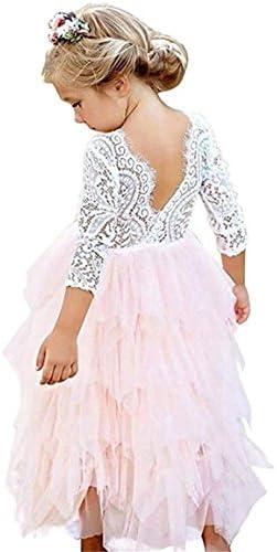 Toddler Flower Princess Backless Dresses