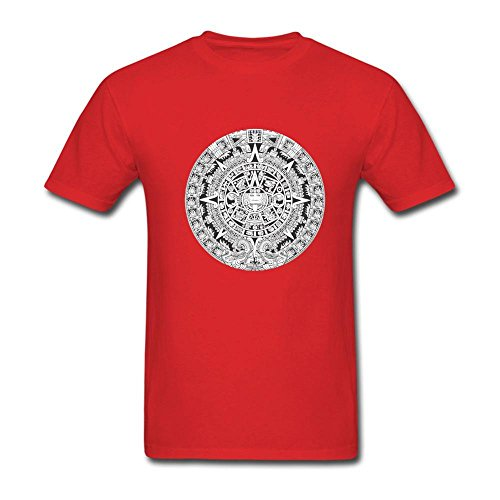 Price comparison product image Men's Aztec Calendar T-Shirt Large Red