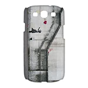 Hot Sale Banksy Girl Balloon For Samsung Galaxy S3 I9300 Back Cover Case (5)
