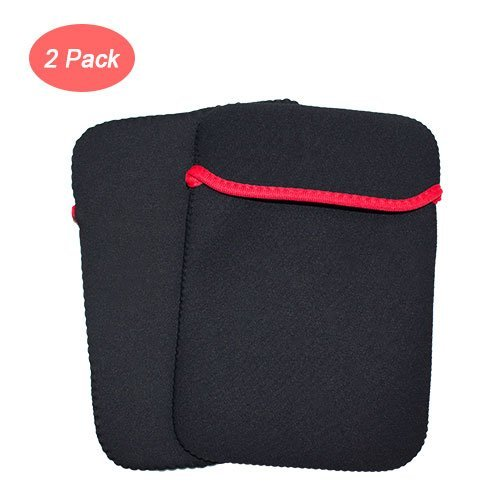 [2 Pack] SHONCO Shockproof Soft Neoprene Dustproof and Scratch-Resistant Protective Storage Carrying Sleeve Case Pouch Bag for External USB CD DVD Blu-Ray Drive Burner & External Hard Drive (Black)