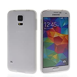 SHIDU Soft Silicone Skin Slim Back Shell Case Cover For Samsung Galaxy S5 I9600 Clear