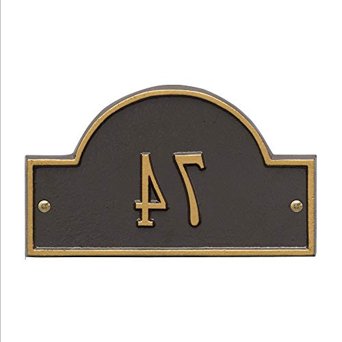 Personalized Products Petite One-Line Arch Marker Address Plaque in Bronze/Gold ()