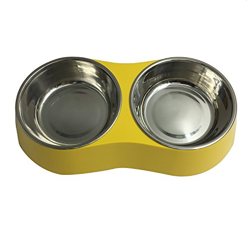 Pet Cuisine Pet Bowl Double Stainless Steel Dish Feeder Drin