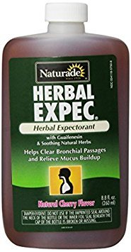 Naturade, Herbal Expec, Herbal Expectorant with Guaifenesin, Natural Cherry Flavor, 8.8-Ounce Bottle (Pack of 3)