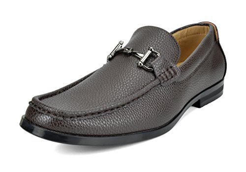BRUNO MARC NEW YORK Bruno Marc Men's Harry-01 Dress Penny Loafers Shoes - stylishcombatboots.com