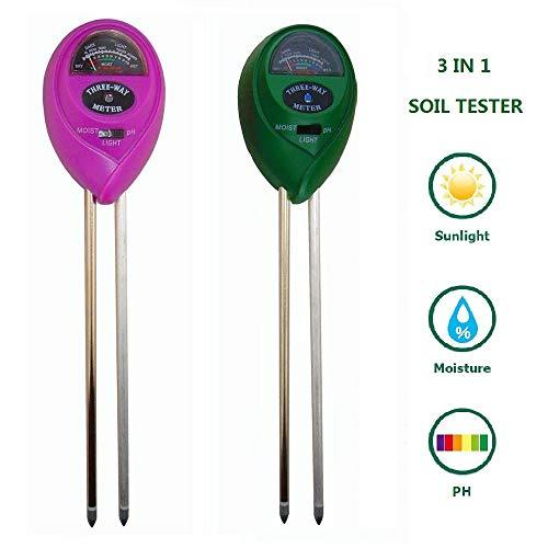 MTB 3-in-1 Soil Tester Kit for Moisture, Light & PH Soil Meter, Pack of 2 (Green+ Yellow), Plant Care Soil Test Kit for Garden, Farm, Lawn, Indoor & Outdoor (No Battery Needed)...