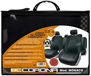 Bccorona Fuk10402 Set Komplette Autositzbezüge Monaco Schwarz Auto
