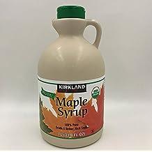 Kirkland Signature 100 Percent Maple Syrup, Dark Amber, 33.8 Fluid Ounce