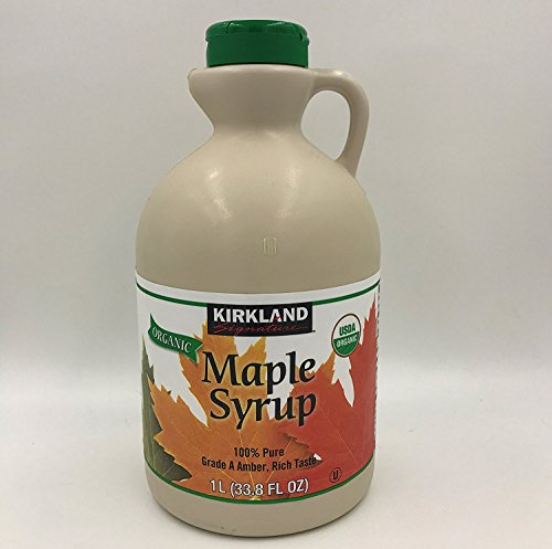Kirkland Signature 100 Percent Maple Syrup, Dark Amber, 33.8 Fluid Ounce (Pure Organic Maple Syrup)
