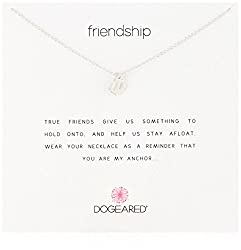"Dogeared Reminders- Friendship Sterling Silver Anchor Charm Necklace, 16""+2"" Extender"