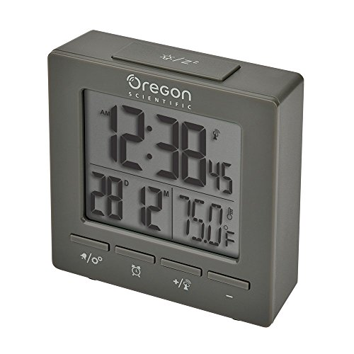 Oregon Scientific RM511A Gray Portable Dual Alarm Clock with