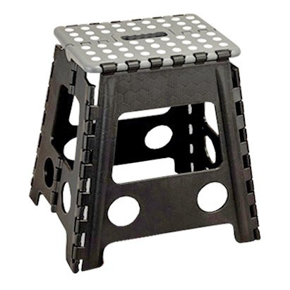 Folding Stool Colour: Grey-Black Up To 120 Kg