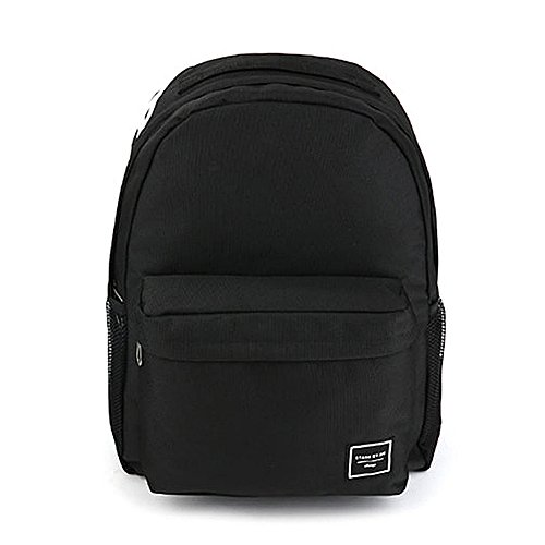 Documentary 24H Street Backpack Daypack School College Unisex Rucksack Travel Student (Black)
