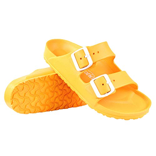 AEROTHOTIC - Water Friendly Light Weight EVA Sandals and Flip Flops for Women - One Piece Technology (US-Women-7, IRIS Yellow)