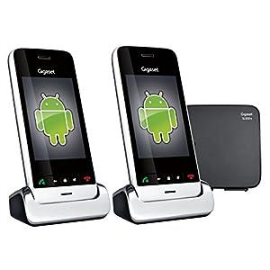 Gigaset SL930A Duo Téléphone fixe sans fil sous Android 4.0.4 Ice Cream Sandwich Répondeur 2 combinés Noir