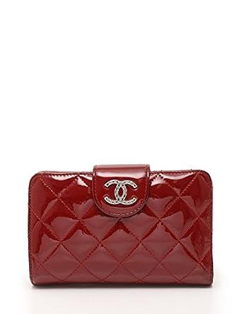 537311908503 Amazon.co.jp: (シャネル) CHANEL ブリリアントライン マトラッセ 二つ折り財布 エナメルレザー 赤 シルバー金具 A48706  中古: 服&ファッション小物