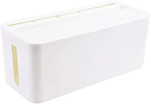 Yardwe Caja de Cables Organizador de Cables Eléctricos Cargadores Regletas (Blanco, tamaño Medio): Amazon.es: Hogar