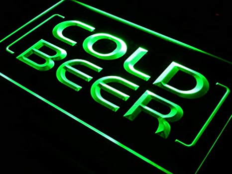 ADVPRO Cartel Luminoso i348-g Cold Beer Bar Pub Club Open ...