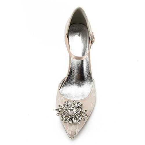 de champagne en à femmes Zxstz danse pour Chaussures soie pour du et festivals hauts la satin des talons nAqBwgU8wx