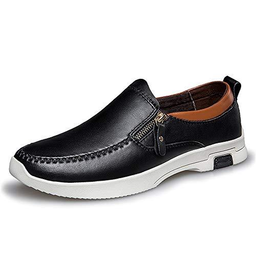 Noir 43 EU Tufanyu La Mode des Hommes Oxford Décontracté Classic Slip de Couleur Unie Confortable et Pratique sur des Chaussures Formelles Confortable (Couleur   Noir, Taille   43 EU)
