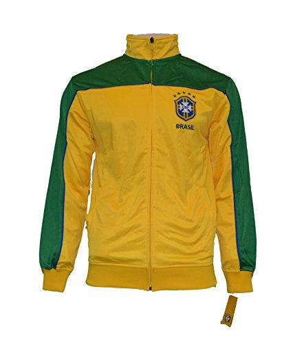 Track Soccer Adult Sizes Brazil Soccer Football Official Merchandise (L) (Brazil Track Top)
