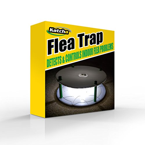 Complete PORTABLE (NO WIRES) FLEA TRAP by Katcha + 4 STICKY DISCS – The...