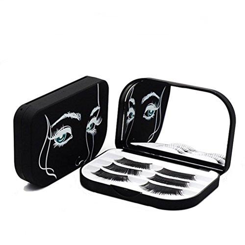 False Eyelash Storage Box Makeup Cosmetic Mirror Case Organizer Acrylic by Baomabao