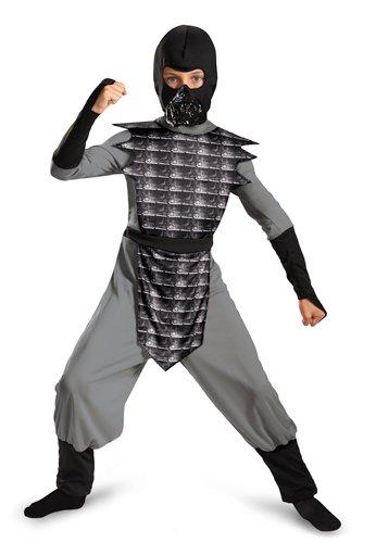 Disguise Shadow Ninjas Night Fury Boys Costume, Gray, 10-12