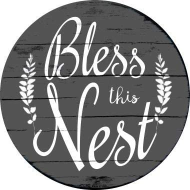 Bargain World Bless The Nest Novelty Metal Circular Sign Sticky Notes