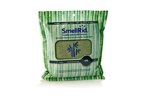 SMELLRID Reusable Bamboo Activated Charcoal Odor Remover Pouch – XX Large (8.5″ X 8.5″): Treats Up to 300 sq. ft. to Eliminate Nasty Smells, Pollutants & Moisture