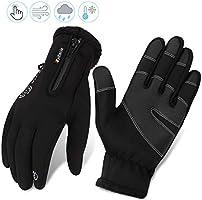 Fahrradhandschuhe männer winter wasserdicht Fahrrad Handschuhe Herren Damen Touchscreen Handschuhe Outdoor Winddichte...