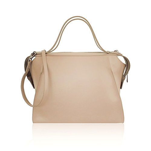 Bag myitalianbag Nude Italian buitenzomen Womens met Smooth verwijderbare Amber schouderleer Rigid q1BwE1rxA