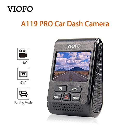 A119 PRO Dash Cam Car Dash Camera 2K HD 1440P 1296P 30fps 1080P 60/30fps 5PM Capacitor Camera DVR 7G F1.8 130°FOV Video Recorder
